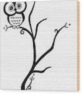 Owl Wood Print by Jennifer Kimberly