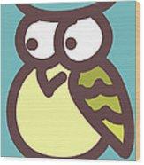 owl Wood Print by Nursery Art