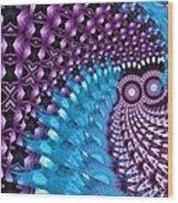 Owl Of The Night Wood Print
