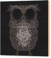 Owl Poster. Vector Illustration Wood Print