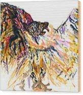 Owl Power Wood Print