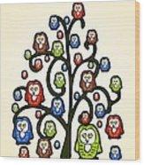 Owl Tree Wood Print