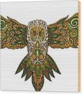 Owl Yellow Wood Print