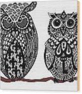 Owls 10 Wood Print