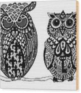 Owls 9 Wood Print