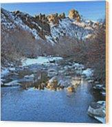 Owyhee River Reflection Desert Light Wood Print