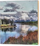 Oxbow Bend Wood Print by Dan Sproul