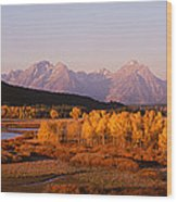 Oxbow Bend Grand Teton National Park Wy Wood Print