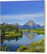 Oxbow Bend Wood Print by Robert Bales
