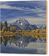 Oxbow Reflections Wood Print