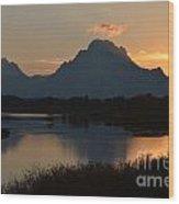 Oxbow Sunset Wood Print