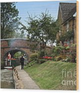 Oxford Canal Wood Print