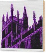 Oxford England 1986 Purple Spirals Art1 Jgibney The Museum Gifts Wood Print
