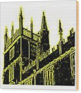 Oxford England 1986 Yellow Spirals Art1 Jgibney The Museum Gifts Wood Print