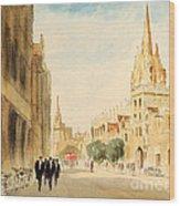 Oxford High Street Wood Print