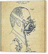 Oxygen Mask Patent From 1944 - Three - Vintage Wood Print