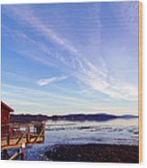 Oyster Flats Wood Print
