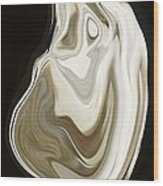 Oyster Shell No 3 Wood Print by Chad Miller