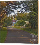 Oysterville Church Framed Wood Print