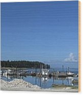 Oysterville Port Wood Print