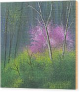 Ozark Redbud Wood Print