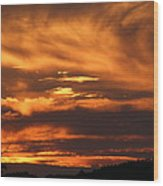 Ozark Sunset Wood Print