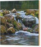 Ozark Waterfall Wood Print