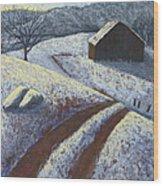 Ozark Winter Barn Wood Print