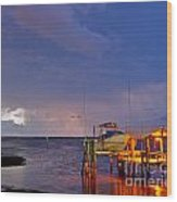 Ozona Pier  Wood Print