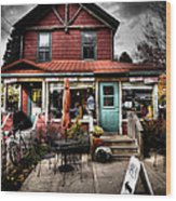 Ozzie's Coffee Bar - Old Forge Ny Wood Print