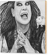 Ozzy Osbourne Art Drawing Sketch Portrait Wood Print