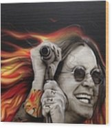 Ozzy's Fire Wood Print