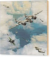 P-38 Lighting Wood Print