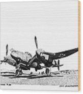 P 38 Lightning Wood Print