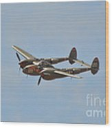 P-38l Lighting - Thoughts Of Midnight 2 Wood Print