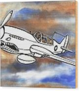 P-40 Warhawk 1 Wood Print by Scott Nelson