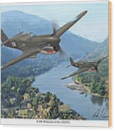 P-40 Warhawks Of The 23rd Fg Wood Print