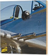 P 41 Fighter Wood Print