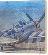 P-47 Thunderbolt Airplane Wwii Airfield Wood Print