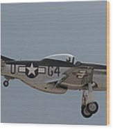 P-51 Landing Configuration Wood Print