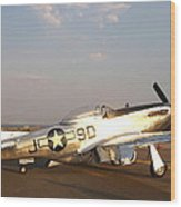 P-51 Mustang Fighter Aircraft Wood Print