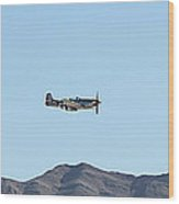 P-51  Mustang Flyby  Nellis  Afb Wood Print