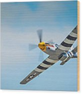 P-51 Mustang Low Pass Wood Print by Puget  Exposure