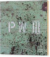 P W Wood Print