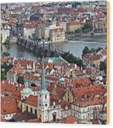 Prague - Charles Bridge Wood Print