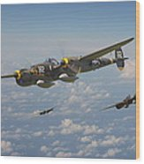 P38 Lightning - Pacific Patrol Wood Print
