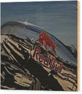 P38 Red Bull Lightning Warbird Wood Print