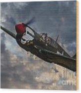 P40 Warhawk Tribute Wood Print