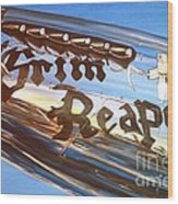 P51 Mustang Grim Reaper Warbird Wood Print