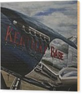 P51 Mustang Kentucky Babe Warbird Wood Print
